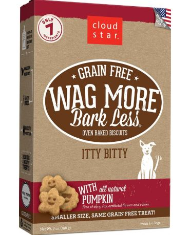 Wag More Bark Less Itty Bitty Biscuits Pumpkin Dog Treats 7oz