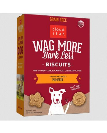Wag More Bark Less Oven Baked Biscuits Pumpkin Dog Treats 14oz