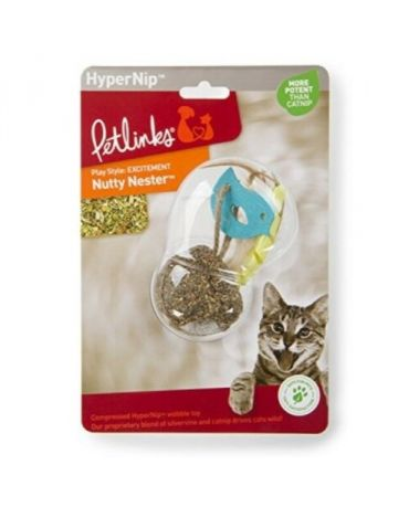 Petlinks HyperNip Nutty Nester Compressed Catnip Wobble Toy