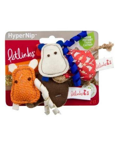 Petlinks HyperNip Hyper Hippos Cat Toy 2 Pack