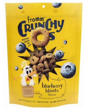 Fromm Crunchy O's Blueberry Blasts Dog Treats 6oz