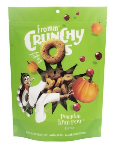 Fromm Crunchy O's Pumpkin Kran POW Dog Treats 6oz