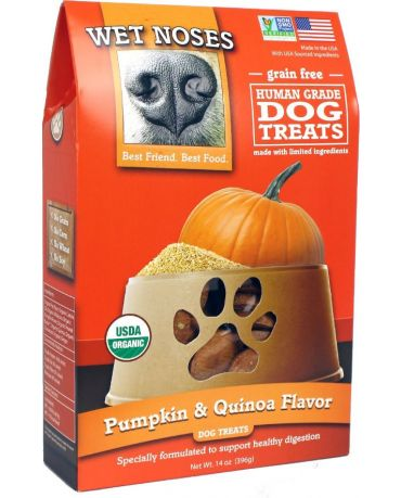 Wet Noses Organic Grain-Free Pumpkin & Quinoa Dog Treats 14oz