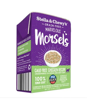 Stella & Chewy's Marvelous Morsels Cage-Free Chicken Recipe Wet Cat Food 5.5oz
