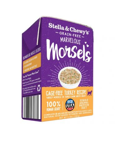 Stella & Chewy's Marvelous Morsels Cage-Free Turkey Recipe Wet Cat Food 5.5oz