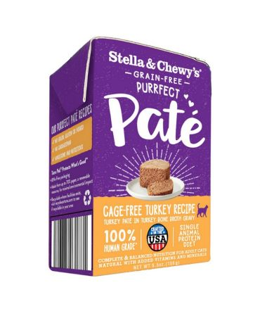Stella & Chewy's Purrfect Pate Cage-Free Turkey Recipe Wet Cat Food 5.5oz