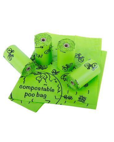 Nite Ize Pack-A-Poo Compostable Dog Waste Pick-Up Bags 4 Pack