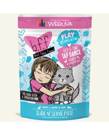 BFF PLAY Tap Dance Duck & Tuna Wet Cat Food Pouch 3oz