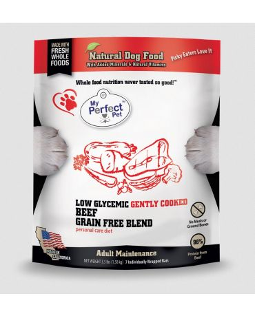 My Perfect Pet Low Glycemic Grain-Free Beef Blend Frozen Dog Food 3.5lb