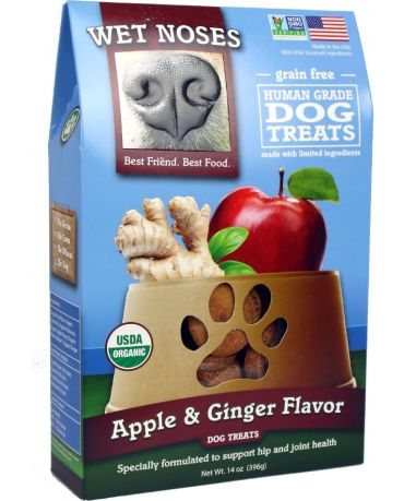 Wet Noses Organic Grain-Free Apple & Ginger Dog Treats 14oz