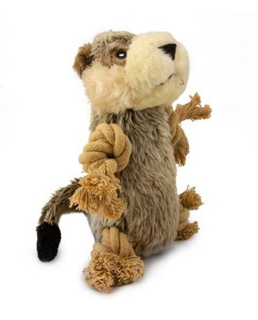 SteelDog Roper Meerkat Rope & Plush Dog Toy