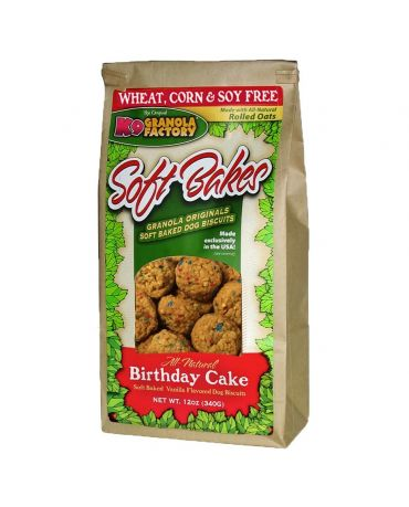 K9 Granola Factory Soft Bakes Birthday Cake Dog Treats 12oz