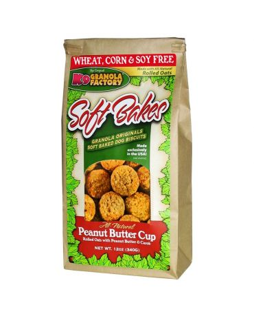K9 Granola Factory Soft Bakes Peanut Butter Cup Recipe Dog Treats 12oz