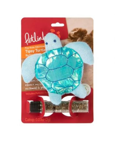 Petlinks Tipsy Turtle Refillable Catnip Cat Toy
