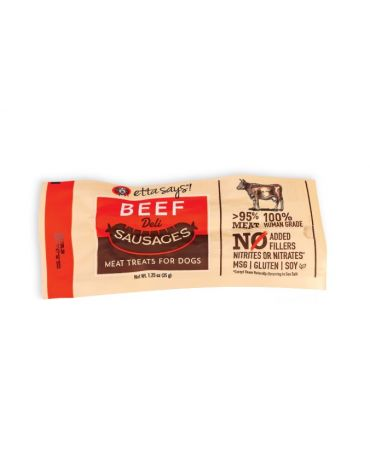 Etta Says! Deli Sausages Beef Meat Treats for Dogs 1.2oz