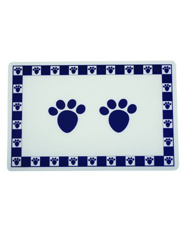 PetRageous Designs Pet Paws Bowl Placemat, Cobalt