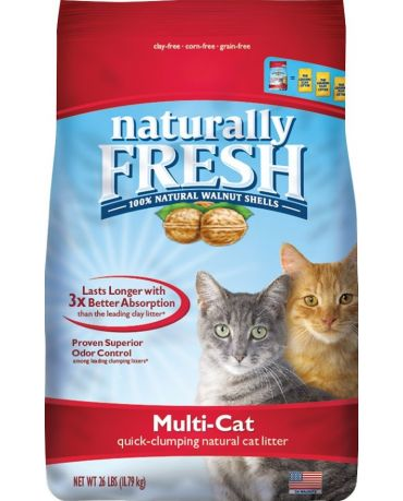 Naturally Fresh Walnut Shell Multi-Cat Clumping Cat Litter 26lb