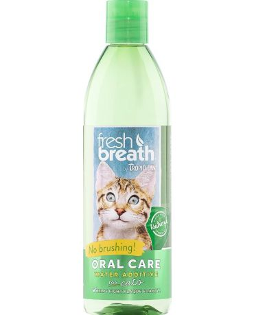 TropiClean Fresh Breath Oral Care Water Additive for Cats 16oz