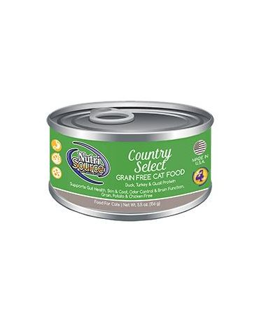 NutriSource Grain-Free Country Select Canned Cat Food 5.5oz