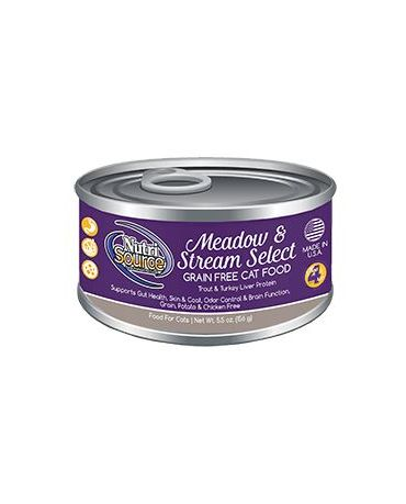 NutriSource Grain-Free Meadow & Stream Select Canned Cat Food 5.5oz
