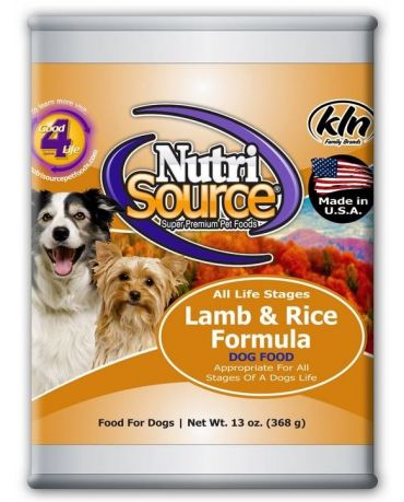 NutriSource Lamb & Rice Canned Dog Food 13oz