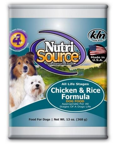 NutriSource Chicken & Rice Canned Dog Food 13oz