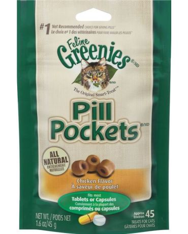 Greenies Pill Pockets Chicken Flavor Cat Treats 1.6oz