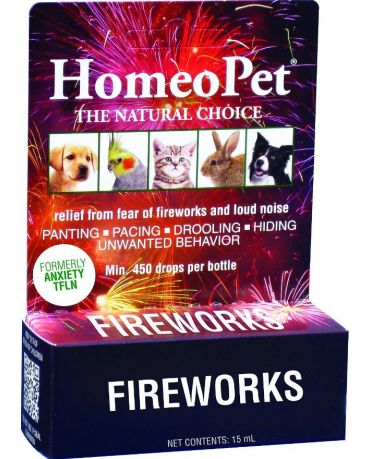HomeoPet Fireworks TFLN Anxiety Formula for Dogs & Cats 15ml