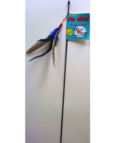 Go Cat Da Bird Interactive Cat Wand Toy With 36 Inch Rod