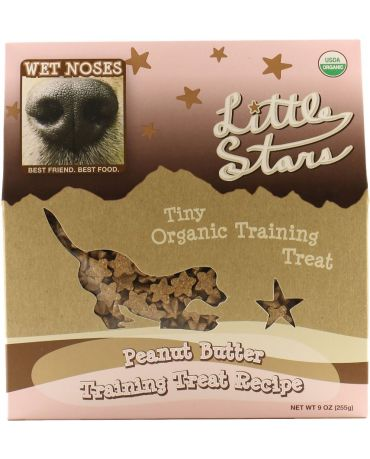 Wet Noses Organic Little Stars Peanut Butter Dog Training Treats 9oz