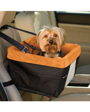 Kurgo Skybox Dog Car Booster Seat, Black & Orange