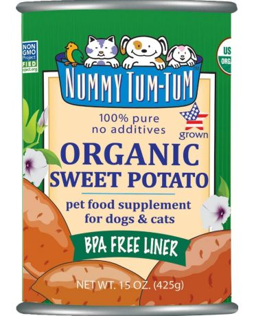 Nummy Tum-Tum Organic Sweet Potato Pet Food Supplement for Dogs & Cats 15oz