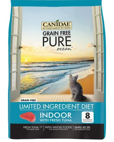 CANIDAE Grain-Free PURE Ocean Real Tuna Indoor Recipe Dry Cat Food