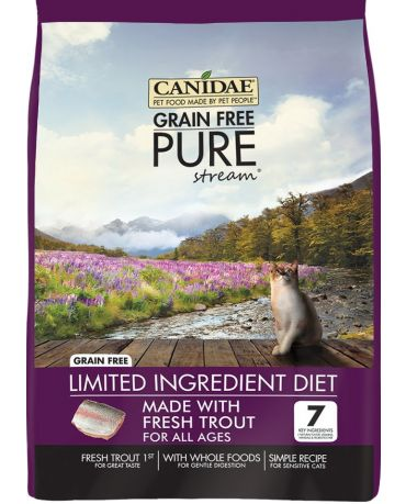 CANIDAE Grain-Free PURE Stream Real Trout Recipe Dry Cat Food