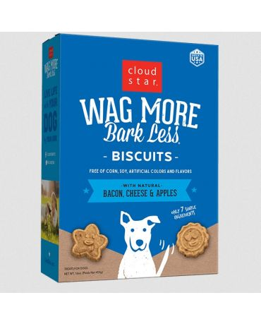 Wag More Bark Less Oven Baked Biscuits Bacon, Cheese & Apples Dog Treats