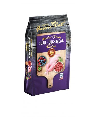 Fussie Cat Grain-Free Quail & Duck Dry Cat Food
