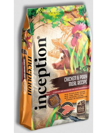 Inception Dry Dog Food Chicken & Pork Meal Recipe