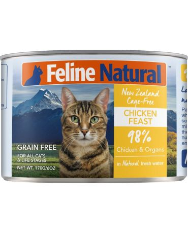 Feline Natural Grain-Free Chicken Feast Canned Cat Food