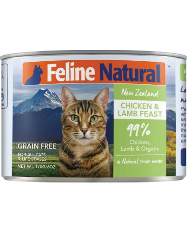 Feline Natural Grain-Free Chicken & Lamb Feast Canned Cat Food