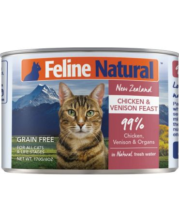 Feline Natural Grain-Free Chicken & Venison Feast Canned Cat Food
