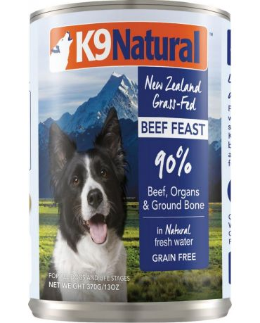 K9 Natural Grain-Free Beef Feast Canned Dog Food