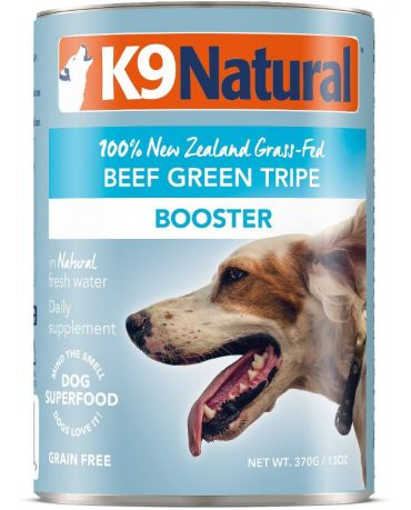K9 Natural Grain-Free Booster Beef Green Tripe Canned Dog Food Supplement