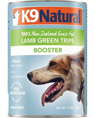 K9 Natural Grain-Free Booster Lamb Green Tripe Canned Dog Food Supplement