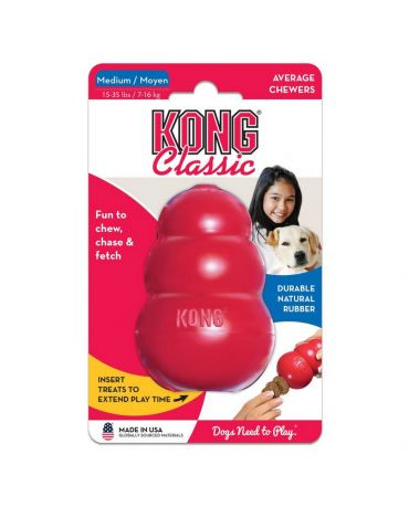 KONG Classic Red Dog Toy
