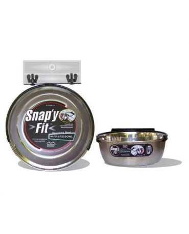 Midwest Snap'y Fit Water & Feed Crate Bowl
