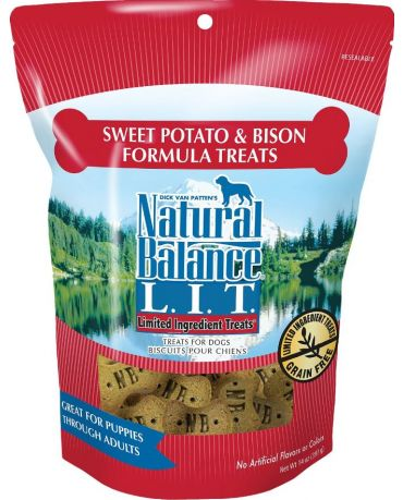 Natural Balance Limited Ingredient Dog Treats Sweet Potato & Bison Formula