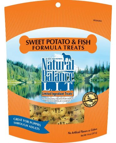 Natural Balance Limited Ingredient Dog Treats Sweet Potato & Fish Formula