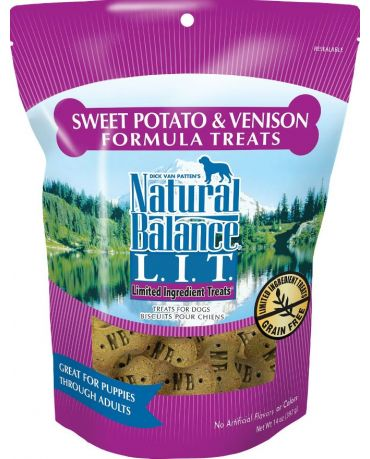 Natural Balance Limited Ingredient Dog Treats Sweet Potato & Venison Formula