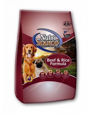 NutriSource Beef & Rice Dry Dog Food