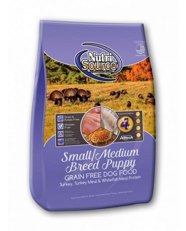 NutriSource Grain-Free Small & Medium Breed Puppy Dry Dog Food